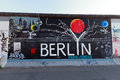 Berlin wall may fragment of the east side gallery on may in it s a km long part of original which collapsed in and Royalty Free Stock Photos