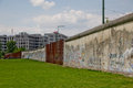 The Berlin Wall Memorial. Part of the wall still standing