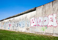 Berlin wall remaining sections of the Royalty Free Stock Photo