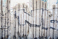 Berlin wall remaining sections of the at the bernauer strasse Royalty Free Stock Images