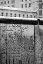 Berlin wall retro view of an existing section of the with the poignant message to astrid someday we will be together written on Royalty Free Stock Images