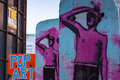 Berlin wall sculptures pop art Fotografie Stock