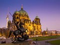 Berliner dom berlin cathedral germany november twilight at on november was originally built with bricks and since Royalty Free Stock Image