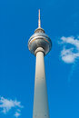Berliner fernsehturm famous tv broadcasting tower in downtown berlin is one of the most famous landmarks of berlin germany Royalty Free Stock Photos