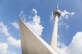 Berliner fernsehturm tv tower berlin germany in the alexander square in Royalty Free Stock Photo
