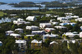 Bermuda Homes in Stunning Colors Royalty Free Stock Photo