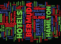 Bermuda Island Word Cloud Concept Royalty Free Stock Photo