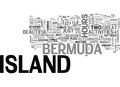 Bermuda Island Word Cloud Royalty Free Stock Photo