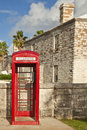 Bermuda Red Telephone Box Royalty Free Stock Image