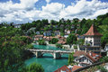 Bern the river aare switzerland Stock Photography