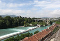 Bern vid on the aare burne federal city actual capital of switzerland is also capital of german speaking canton of and Royalty Free Stock Image
