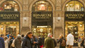 Bernasconi shop in milan people passing by galleria vittorio emanuele italy Stock Photos
