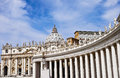 Bernini colonnade of Famous San Pietro basilica Royalty Free Stock Photo