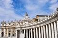 Bernini colonnade of famous san pietro basilica in vaticano rome Royalty Free Stock Photo
