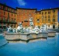 Bernini Fountain, Piazza Navona, Rome Royalty Free Stock Photo
