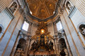 Bernini s cathedra petri and gloria vatican italy rome december in saint peter basilica rome on december the decor was designed by Stock Photography