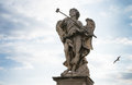 Bernini`s marble statue of an angel Royalty Free Stock Photo