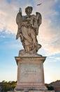 Bernini's marble statue of angel Royalty Free Stock Photo