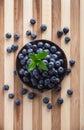 Berries in black jar Royalty Free Stock Photo