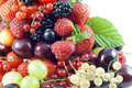 Berries and fruits assortment Stock Photography