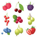Berries icons set Royalty Free Stock Photos