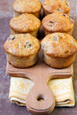 Berry and banana muffins healthy Stock Photography