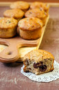 Berry and banana muffins healthy Royalty Free Stock Image