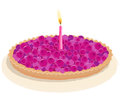Berry birthday cake Royalty Free Stock Photography