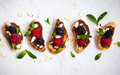 Berry bruschetta Royalty Free Stock Photo