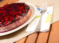 Berry cheese cake whole wild berries Stock Photo