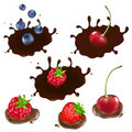 Berry In Chocolate. Vector Royalty Free Stock Image