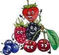 Berry Fruits Group Cartoon Ill...