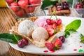 Berry ice creams Royalty Free Stock Photo