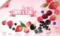 Berry mix falling banner
