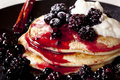 Berry Pancakes Royalty Free Stock Photography