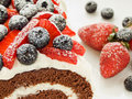 Berry roulade Stock Images