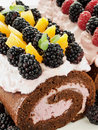 Berry roulade Stock Photography