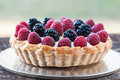 Berry tart fresh mixed cream Royalty Free Stock Images