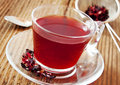 Berry tea transparent cup Fotografia de Stock