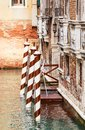 Berth with piles venice italy view of Royalty Free Stock Photography
