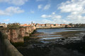 Berwick upon tweed northumberland old bridge view across the river to the historic old town walls Royalty Free Stock Photography