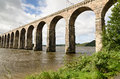 Berwick viaduct Royalty Free Stock Images