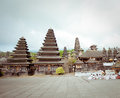 Besakih complex pura penataran agung largest hindu temple of bali indonesia Royalty Free Stock Photos