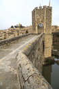 Besalu spain a catalan village seems to have stopped the clock in the middle ages Royalty Free Stock Images