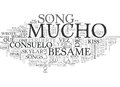 Besame Mucho Guitar Chords And Lyrics Word Cloud