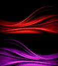 Best background pack dynamic wave design of with halftone effect in two colors red and violet Royalty Free Stock Image