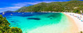 Best beches of Lefkada island - Mikros Gialos. Beautiful Greece
