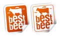 Best beef stickers Royalty Free Stock Images