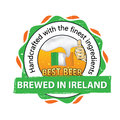 Best beer, brewed in Ireland stamp for print