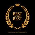 Best of the best laurel symbol